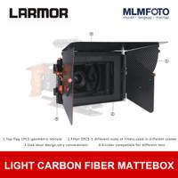 LARMOR LIGHT CARBON FIBER MATTE BOX FOR 15MM RIG SWING + FILTER HOLDER