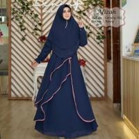 Baju Muslim Gamis Tk Syari Ceruty Afizah Navy Tatop.178