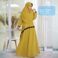 Baju Muslim Gamis Syari Ananta Yellow Tashi.421