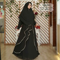 Baju Muslim Gamis Tk Syari Ceruty Afizah Black Tatop.178