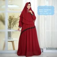 Baju Muslim Gamis Syari Ananta Red Tashi.421