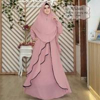 Baju Muslim Gamis Tk Syari Ceruty Afizah PInk Tatop.178