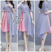 Dress Wanita Dress Kombi Stripe Fashion Tathe.630 CB