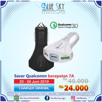 PROMO CHARGER MOBIL SAVER QUALCOMM 7A QUICK CHARGE