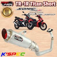 Knalpot ProLiner TR-1R Titan Short SONIC 150R & SUPRA GTR 150 Original