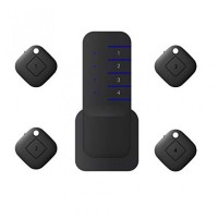 Wireless Key Finder Remote Locator with 1 Transmitter and 4 Receivers