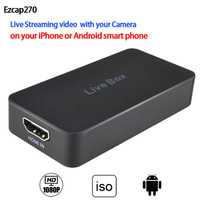 Ezcap270 HDMI Capture Card 1080P HD Recorder for iPhone - Android