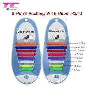 tali sepatu silikon silicone, tali sepatu elastis elastic karet no tie