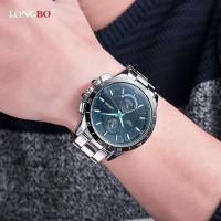 Promosi Tahun Baru LONGBO Jam Tangan Quartz Pria 8833