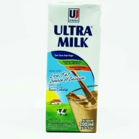 susu ultra milk low fat rasa coklat 200ml