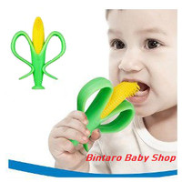 Baby CORN TEETHER and Bendable Training Toothbrush / TEETHER JAGUNG