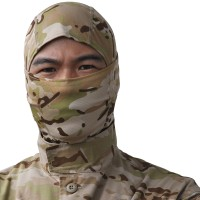 Tactical Full Face Mask Hood Headgear Caps Camouflage Hunting
