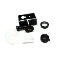 Protective Case dengan mount   UV filter untuk Xiaomi Yi - Black