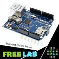 Ethernet Shield W5100 dengan Micro SD Slot untuk Arduino