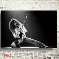 Poster Eddie Van Halen Band Music Ukuran Besar 60x90cm