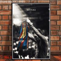 Poster Lionel Messi Barcelona Football Bola Ukuran Besar 60x90cm