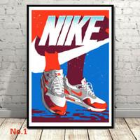 Poster Nike Shoes Air Max Michael Jordan Sepatu Ukuran Besar 60x90cm