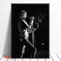 Poster Jim Morrison The Doors Vocalis Band Music Ukuran Besar 60x90cm