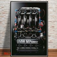 Poster BMW M3 E30 Racing Car Retro Classic Ukuran Besar 60x90cm