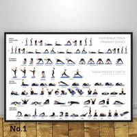 Poster Yoga Ashtanga Om Senam Olahraga Ukuran Besar 60x90cm