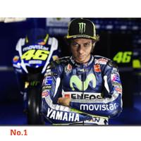 Poster Valentino Rossi Yamaha MotoGP Racing Ukuran Besar 60x90cm