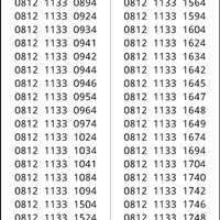Perdana Simpati Seri double 1133 hoki 0812 1133xx #ymil