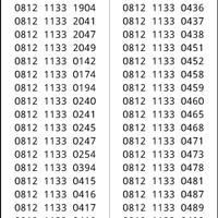 kartu cantik Simpati Seri double 1133 hoki 0812 1133xx #ymil