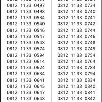 kartu Perdana Simpati Seri double 1133 hoki 0812 1133xx #ymil