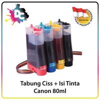 Tabung Tinta Ciss / Infus 80ml 4 Warna Untuk Printer Canon
