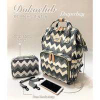 Tas Bayi Diaper Bag Dokoclub + FREE POUCH Diaper Backpack Tas Ransel