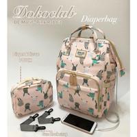 Tas Bayi Diaper Bag Dokoclub BONUS FREE POUCH Diaper Backpack