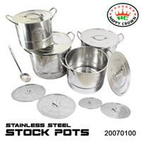 Stock Pots Steamer / Panci Set Steamer Stainless Steel Happy Crown