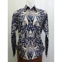 Arcobaleno SP449 Baju Batik Pria Lengan Panjang Slimfit Lawasan Jogjan