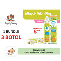 [BUNDLING] 3 Botol My Baby Minyak Telon Plus 145mL
