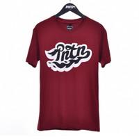 AUSPUFF / Men Short Sleeves Tshirt Maroon - Premium Nation Original
