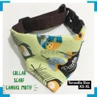 Aksesoris Hewan 2737 Kalung Collar Anjing Kucing Scarf Canvas Motif