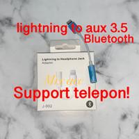 Lightning to Aux 3.5mm audio ke Iphone 7 / 8 / X xr xs max BLUETOOTH