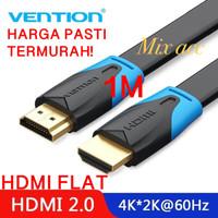 [1M - B02] Vention Kabel Flat HDMI v1.4b Full HD 3D Hdmi 1 m Flat B02