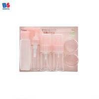 Travel Kit Set Cosmetic 4 Bottle + 2 Small Round | Tas Travel Kosmetik
