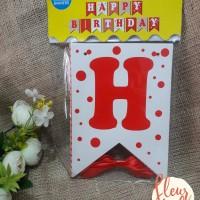BUNTING FLAG HAPPY BIRTHDAY polkadot