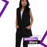 Baju Atasan Wanita Blazer Kerja Korea Hitam Wedges Terbaru