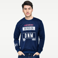 SEYES 1120 Tumblr Tee Sweater Baju Pria Babyterry Premium Navy