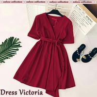 Baju Pakaian Wanita Dress Mini V Dress Elvita