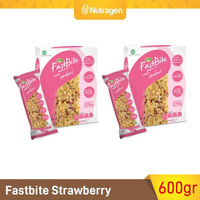 Prosana Fastbite Sereal Bar Tinggi Serat (2 Box x 12 pcs) Strawberry