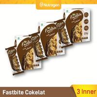 Prosana Fastbite Sereal Bar Tinggi Serat (3 Box x 12 pcs) Coklat kopi
