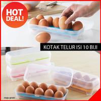 Box Storage Egg 10 Grid / Tempat Kotak Telur Isi 10 Sekat