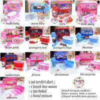 lunch box set anak karakter / tempat makan / bekal set anak
