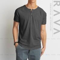 Harga baju kaos pria raglan henley oblong by rava premium best product | antitipu.com