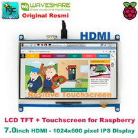 """LCD WAVESHARE 7"""" 7 inch HDMI TFT LCD Resitive Touchscreen Raspberry"""