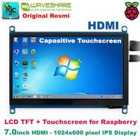 "LCD WAVESHARE 7"" 7 inch HDMI IPS LCD Capasitive Touchscreen Raspberry"